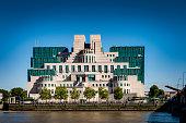 The Secret Intelligence Service (SIS) building in London, England, UK