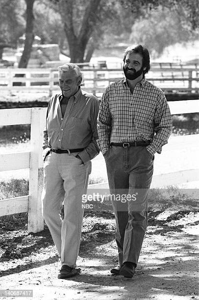MATLOCK 'The Secret Part 1 Part 2 Episodes 6 7 Pictured Andy Griffith as Benjamin Matlock James McDonnell as Tom Hermanski Photo by Gary Null/NBCU...