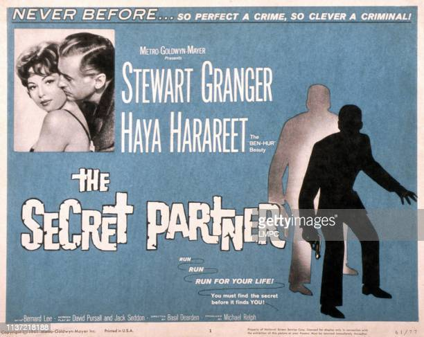 The Secret Partner poster US poster from left Haya Harareet Stewart Granger 1961