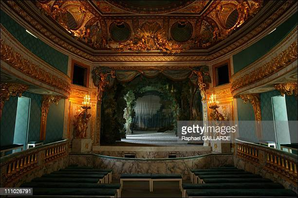 The Secret Realm of Marie Antoinette's Petit Trianon The Queen's theatre built by Richard Mique was unveiled in 1780 MarieAntoinette performed there...