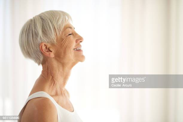 the secret to aging gracefully? embrace it - wrinkled stock pictures, royalty-free photos & images