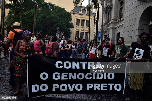 The Secretariat of Public Security of São Paulo was invaded early Thursday evening November 10 2016 by about 150 protesters protesting killings by...