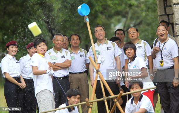 The Secretary for Security, Ambrose Lee Siu-kwong; Chief Superintendent, head of Police Public Relation Branch, Li Kin-fa; The Chief Secretary for...