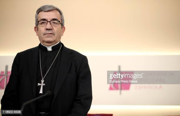 The secretary general and spokesperson of the Spanish Episcopal Conference, Luis Argüello, gives a press conference after the Plenary Assembly of the...