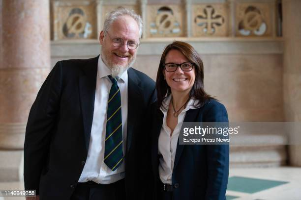 The secretary general of the Consell de Diplomacia Publica of Cataluña Laura Foraster and the professor of Diplomacia Publica Nicholas J Cull are...