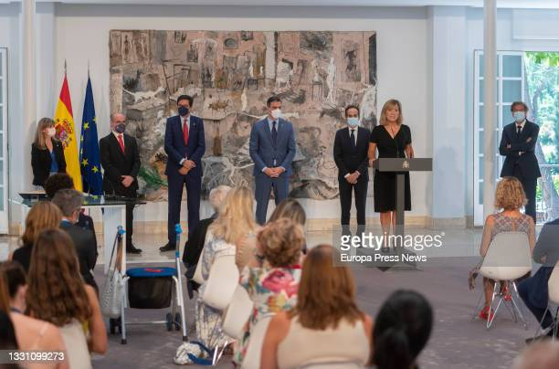 The Secretary General of the Presidency of the Government, Francisco Martin Aguirre; the new Head of the Cabinet of the Presidency, Oscar Lopez...