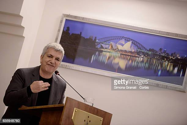 The secretary of SEL Nichi Vendola during the National Assembly of the Left Party SEL declaring the dissolution of the party and the union with...