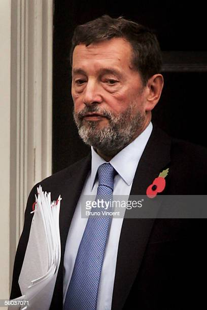 The Secretary of State for Work and Pensions, David Blunkett, leaves Richmond House on October 31, 2005 in London, England. Opposition Conservative...