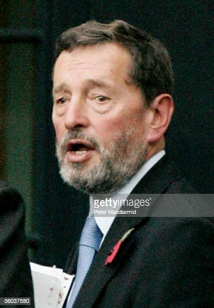 The Secretary of State for Work and Pensions, David Blunkett, leaves Downing Street by the back door on October 31, 2005 in London. Opposition...