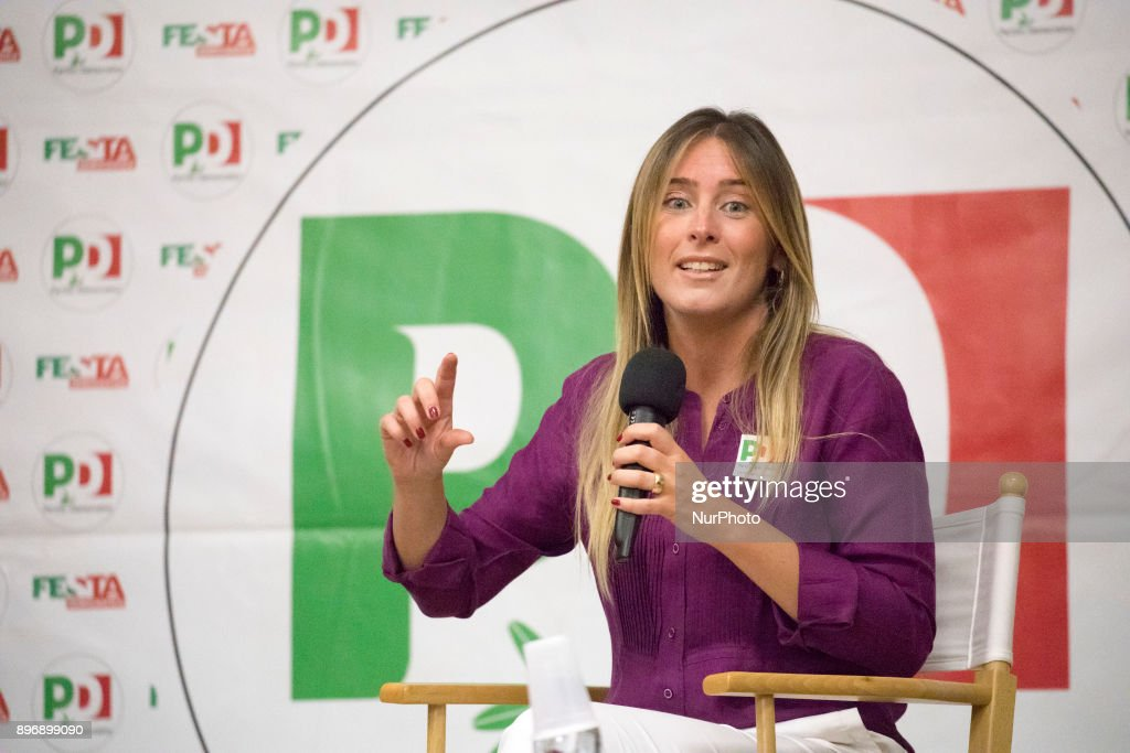 Maria Elena Boschi in Turin : News Photo