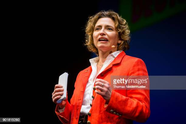 The SecretaryGeneral of the Free Democratic Party Nicola Beer talks during the traditional Epiphany meeting of the German Free Democratic Party at...