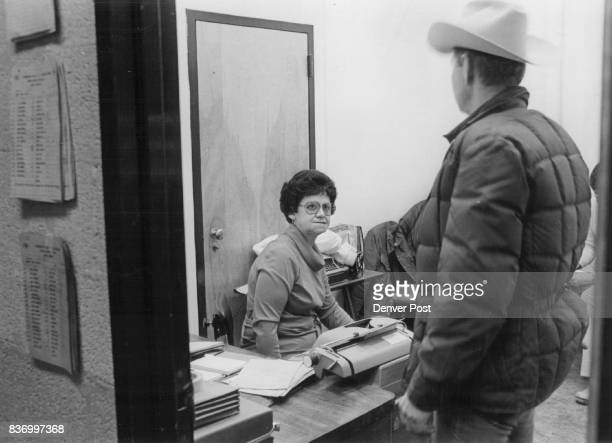 The Secretary's Office Is The Never Center of The Rodeo Mrs Backstrom called 'Mamacita' by Cowboys has been in rodeo since she was three She knows...