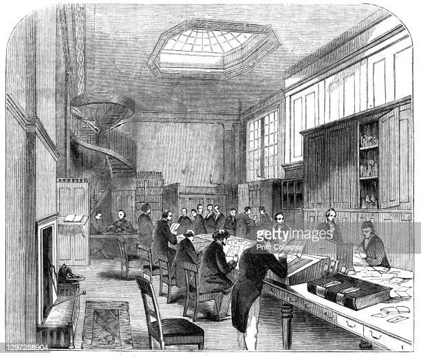 The Secret-Office, at the General Post Office, 1844. Workers at the main post office at St Martin's Le Grand in London. 'The sensation produced by...