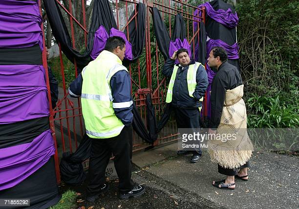 The security is tight at the residence of the Late King of Tonga, Taufa'ahau Tupou IV in Epson, September 12, 2006 in Auckland New Zealand. The body...