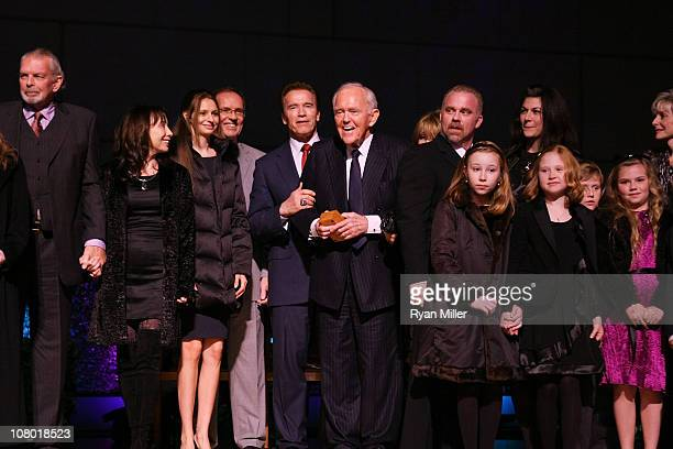 The Segerstrom Family with Former Govenor Arnold Schwartzenegger presents the official Govenors ring to Founding Chairman Henry Segerstrom at the...
