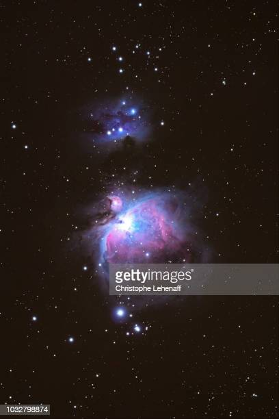 The Seine and Marne. Great nebula of Orion Messier 42 such as sight in a amateur telescope.
