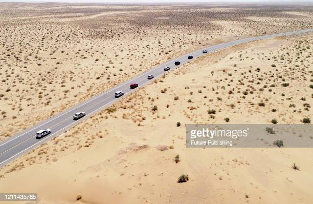 The self driving Tour team drove from Badain Jilin desert Geopark to the deep desert. Inner Mongolia, China, May 1, 2020.- PHOTOGRAPH BY Costfoto /...