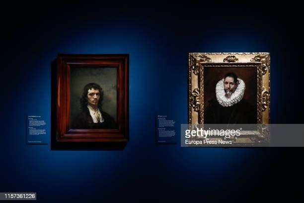 The self-portrait of Carel Fabritius , and the work of art of El Greco 'Retrato de Jerónimo de Cevallos' , are seen in the exhibition 'Velázquez,...