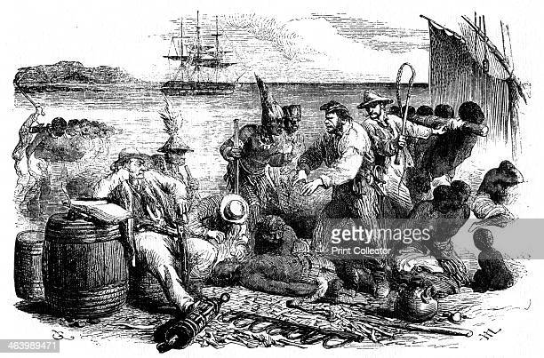 The selling and branding of slaves before being put aboard a ship 1965 A print from The Slave Trade and its Abolition edited by John LangdonDavies...