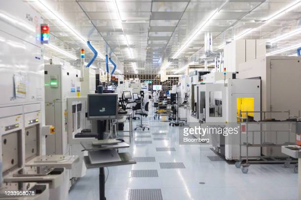 The semiconductor cleanroom at the Interuniversity Microelectronics Centre in Leuven, Belgium, on Wednesday, July 7, 2021. The Interuniversity...
