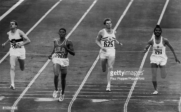 The semifinal of the Men's 400 Metres at the Rome Olympics 5th September 1960 From left to right Germany's Manfred Kinder America's Otis Davis...