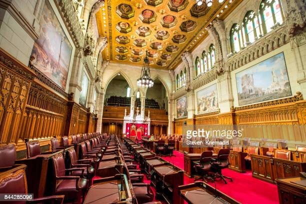 The Senate Chamber in the Canadian Parliament Building