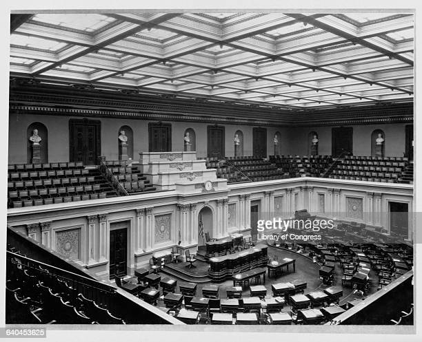 The Senate Chamber in the US Capitol Washington D C