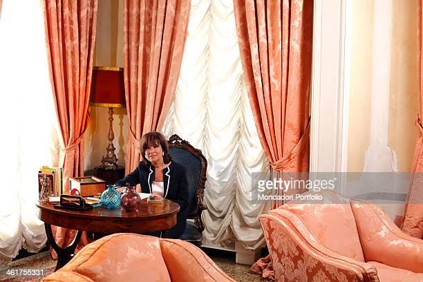 The senator Maria Elisabetta Alberti Casellati during a photo shooting at home Padua Italy 5th July 2010