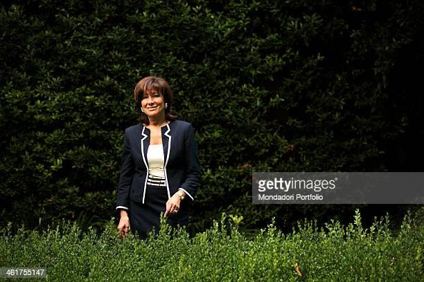 The senator Maria Elisabetta Alberti Casellati during a photo shooting in her garden at home Padua Italy 5th July 2010