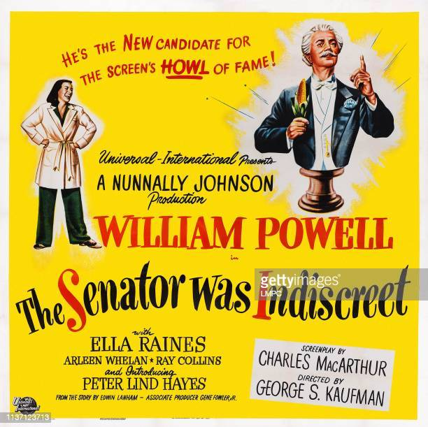 The Senator Was Indiscreet poster US poster art from left Ella Raines William Powell 1947