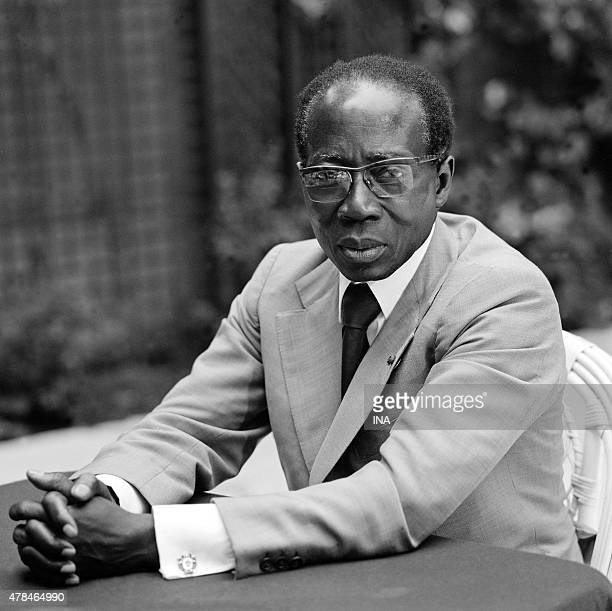 """The Senegalese president Leopold Sedar Senghor interviewed in the documentary """"""""Charles the only one"""""""" dedicated to Charles de Gaulle"""