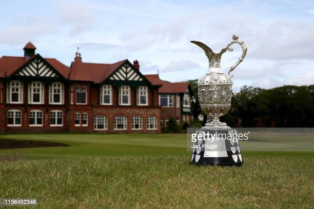 The Senior Open Claret jug during the 2019 Senior Open Media Day ahead of The Senior Open presented by Rolex at Royal Lytham St Annes on June 17 2019...