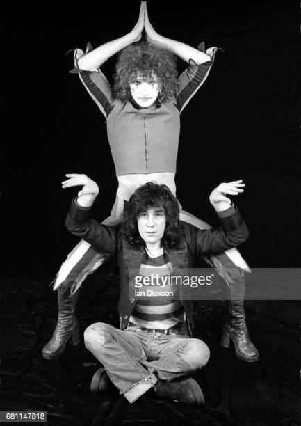 The Sensational Alex Harvey Band, portraits at Kingly Court Studios, London, January 1974. Alex Harvey, Zal Cleminson.