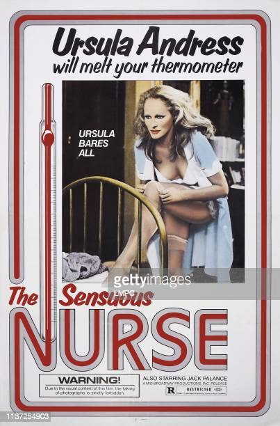 The Sensuous Nurse poster US poster art Ursula Andress 1975