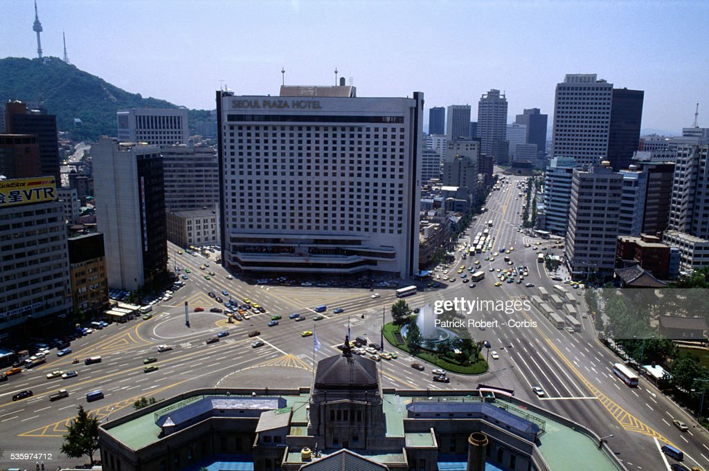 The Seoul Plaza Hotel Faces City Hall Across In Downtown