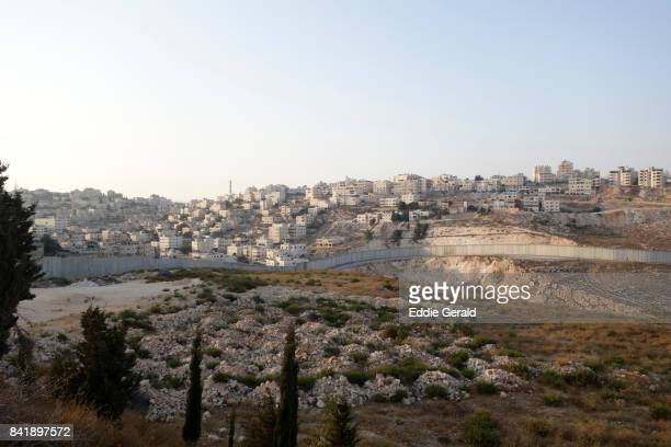 the separation wall in the west bank - west bank stock pictures, royalty-free photos & images