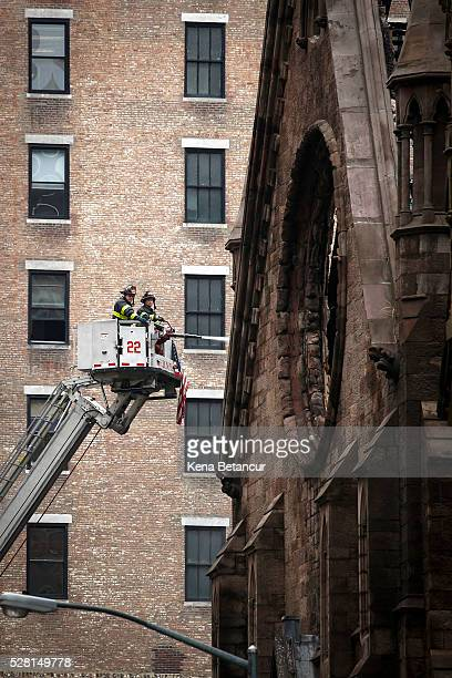 The Serbian Orthodox Cathedral of Saint Sava was destroyed in a massive fire on Sunday May 012016 in Manhattan