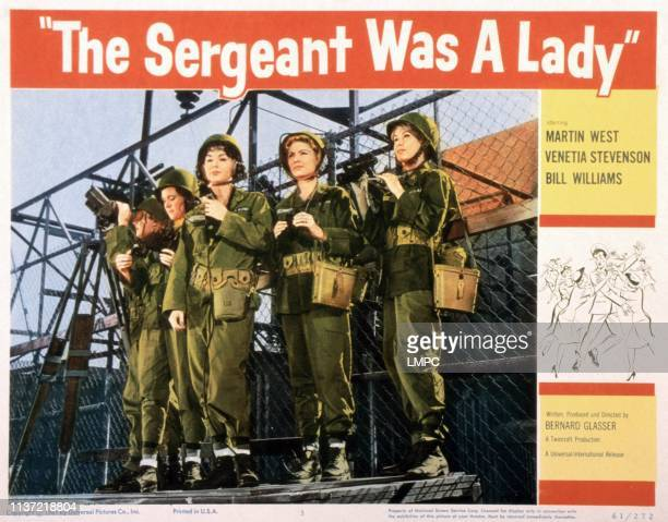 The Sergeant Was A Lady US lobbycard Catherine McLeod Venetia Stevenson 1961