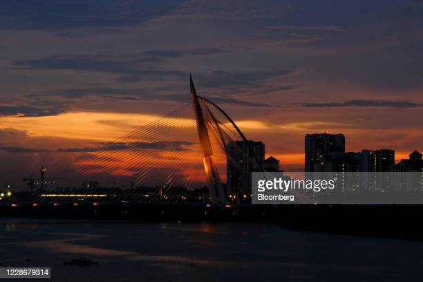 The Seri Wawasan Bridge stands in Putrajaya Malaysia on Wednesday Sept 23 2020 Malaysia's Prime Minister Muhyiddin Yassin urged people to reject...
