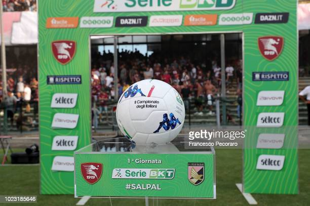 The Serie B ball before the Serie B match between US Salernitana and US Citta di Palermo on August 25 2018 in Salerno Italy