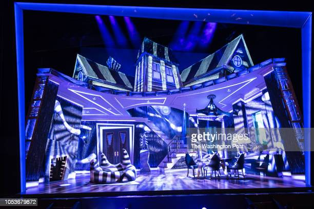 The set as it appears in Act II Beetlejuice opens at the National Theater and the set design is one of the main attractions