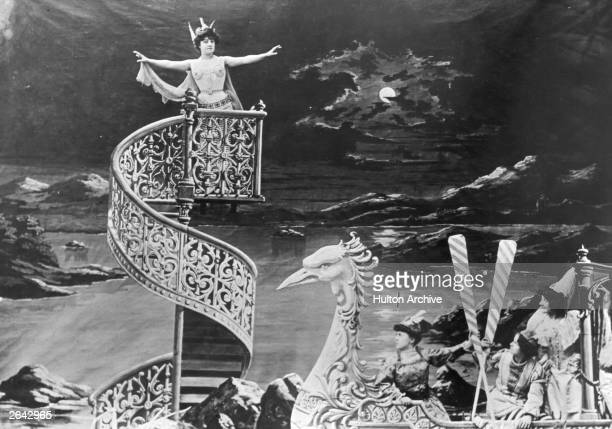 The set of a lavish film by French magician actor designer and theatre manager Georges Melies