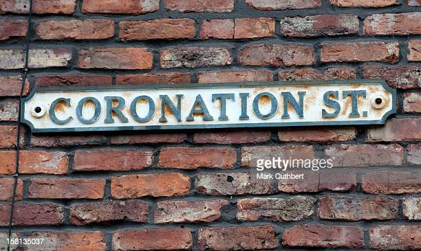 The Set Of Coronation Street At Granada Studios In Manchester During The Soap's 50Th Anniversary Year