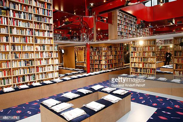 The set of Sonia Rykiel show a library made of more than 50 000 books during Paris Fashion Week Womenswear Fall/Winter 2015/2016 on March 9 2015 in...