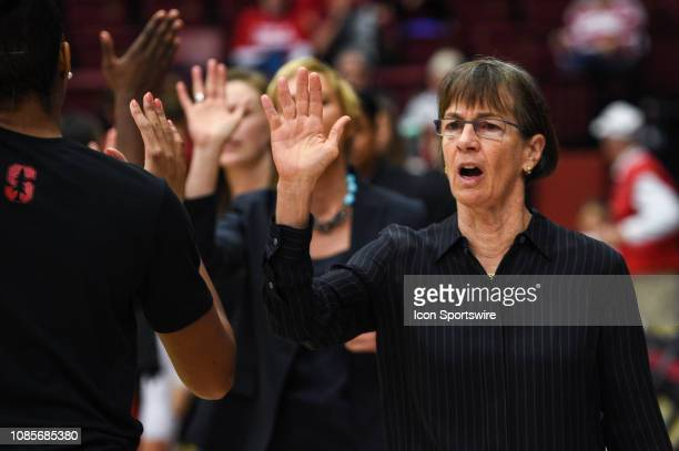 The Setsuko Ishiyama Director of Womens Basketball Tara Vanderveer during the women's basketball game between the Washington State Cougars and the...