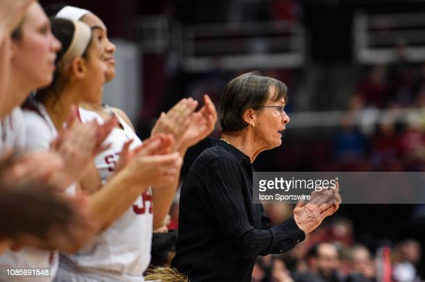 The Setsuko Ishiyama Director of Womens Basketball Tara Vanderveer earned her 900th win at Stanford during the women's basketball game between the...