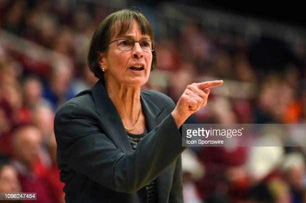 The Setsuko Ishiyama Director of Womens Basketball Tara VanDerveer during the women's basketball game between the Oregon State Beavers and the...