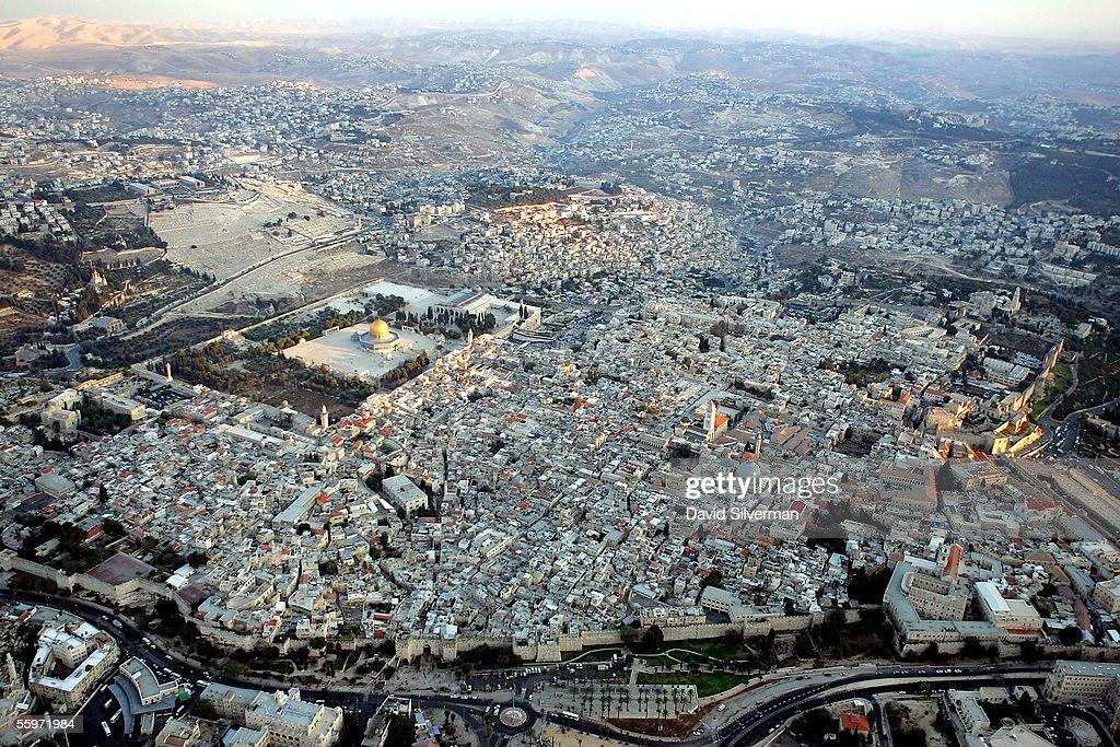 Aerial Views Of Jerusalem?s Old City : News Photo