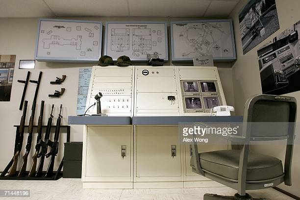 The setup of the Communication Room of a former government relocation facility also know as the bunker is on display at the facility at Greenbrier...