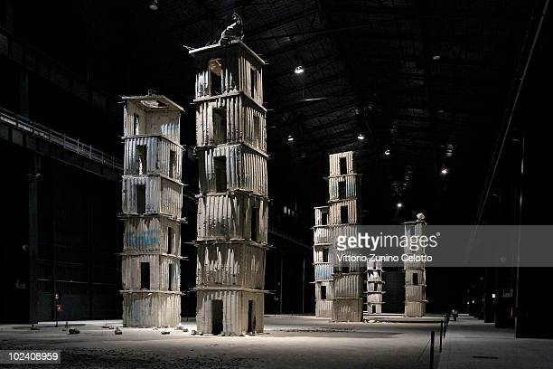 'The seven heavenly palaces' by Anselm Kiefer is displayed at the Hangar Bicocca Contemporary Art Museum on June 25 2010 in Milan Italy